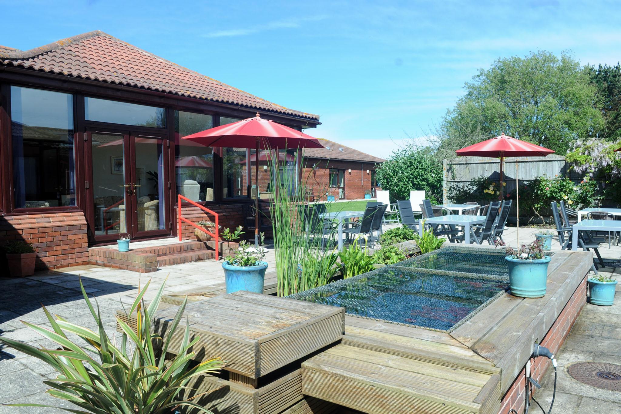 Manorfield Residential Home Garden Pond
