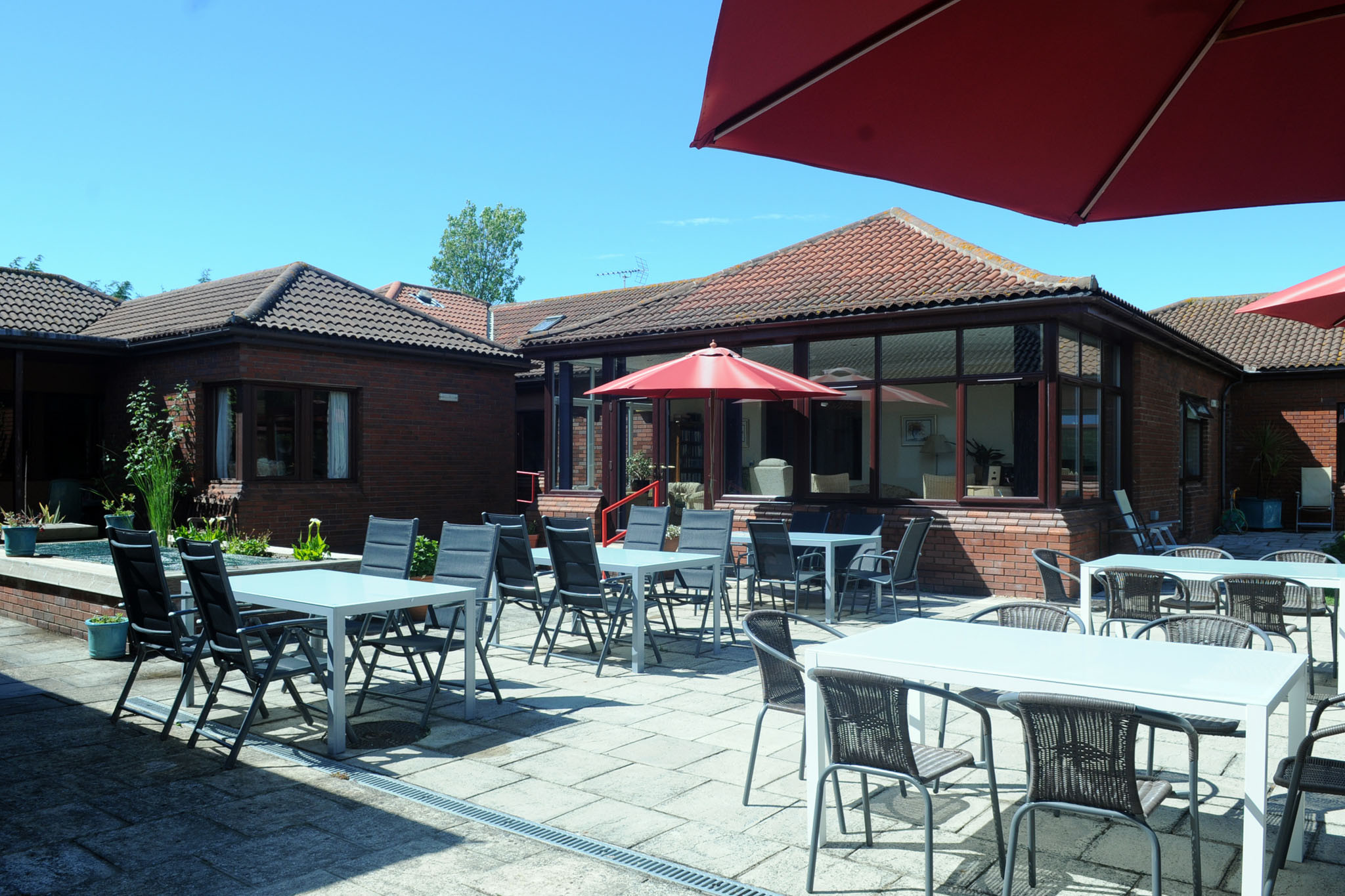 Manorfield Residential Home Patio Area