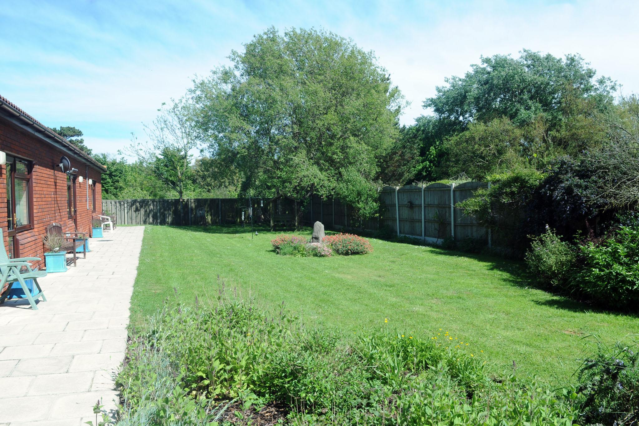 Manorfield Residential Home Garden Area