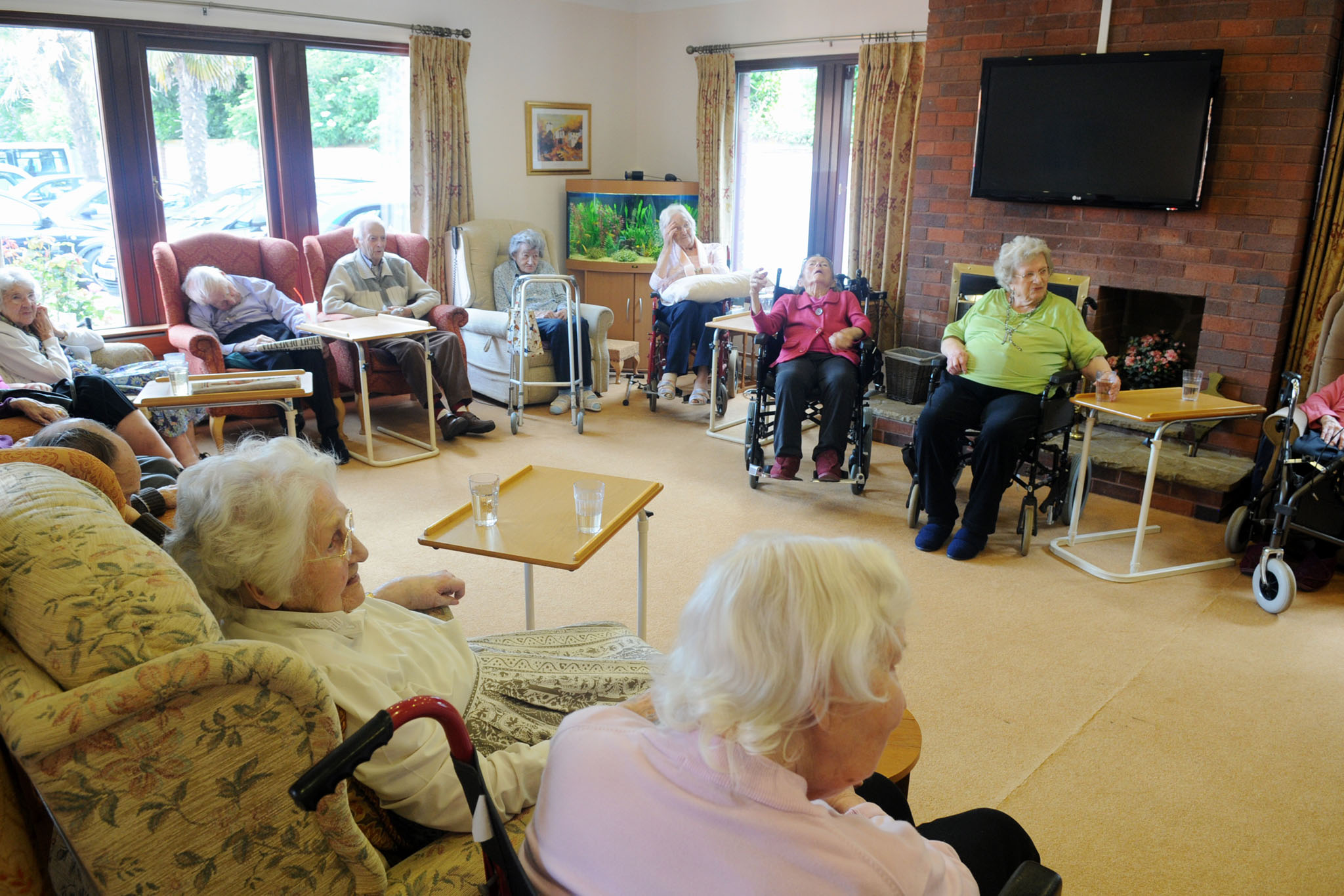 Manorfield Residential Home Lounge